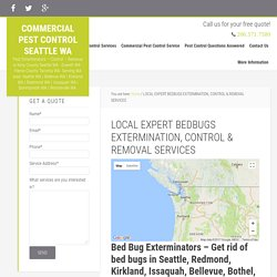LOCAL EXPERT BEDBUGS EXTERMINATION, CONTROL & REMOVAL SERVICES