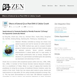 Effects of External Qi on Plant DNA & Cellular Growth - Zen Integrative Clinic