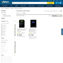 External Hard Disks Price List India: Computer-accessories: Flipkart