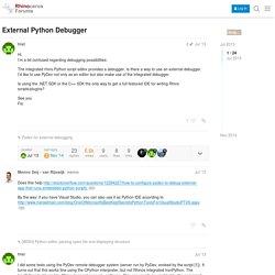 External Python Debugger - Scripting - McNeel Forum