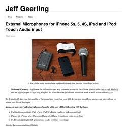 External Microphones for iPhone 5s, 5, 4S, iPad and iPod Touch Audio input