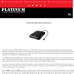 External Hard Drive Recovery - Platinum Plus Services
