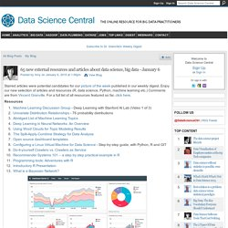 65 new external resources and articles about data science, big data - January 6