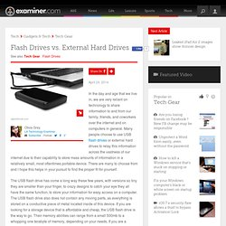 Flash Drives vs. External Hard Drives - Los Angeles Technology