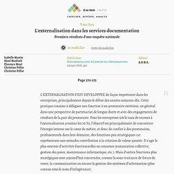 L'externalisation dans les services documentation