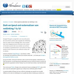 Doit-on (peut-on) externaliser son netlinking ? (1/2)