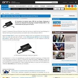 SSD externe chez Samsung : voici les prix pour la France