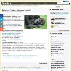 Extinction d'espèces animales et végétales
