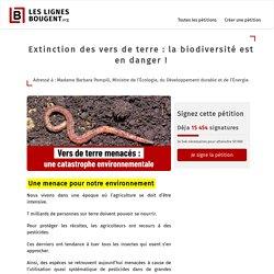 Extinction des vers de terre : la biodiversité est en danger !