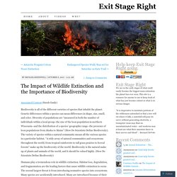 The Impact of Wildlife Extinction and the Importance of Biodiversity