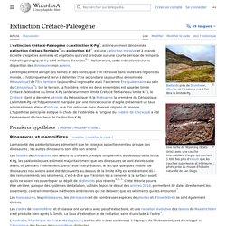 Extinction Crétacé-Paléogène