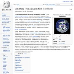 Voluntary Human Extinction Movement