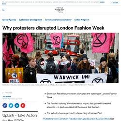 Extinction Rebellion disrupted London Fashion Week
