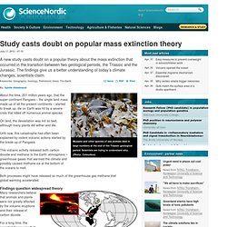 Study casts doubt on popular mass extinction theory