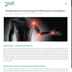 Simple Solutions to Extinguish Inflammatory Conditions - Australian Spinal Research Foundation