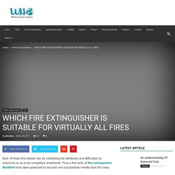 WHICH FIRE EXTINGUISHER IS SUITABLE FOR VIRTUALLY ALL FIRES - Witch Hunter Online