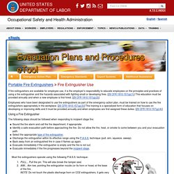 Portable Fire Extinguishers - Fire Extinguisher Use