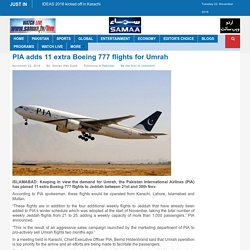 PIA adds 11 extra Boeing 777 flights for Umrah