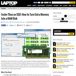 Faster Than an SSD: How to Turn Extra Memory Into a RAM Disk
