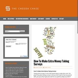 How To Make Extra Money Taking Surveys