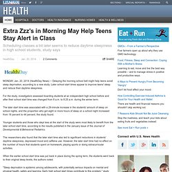 Extra Zzz's in Morning May Help Teens Stay Alert in Class