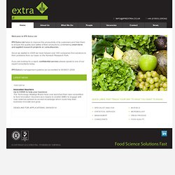 IFR Extra food analysis consultancy