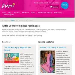 Extra voordelen met je Femmapas - Femma
