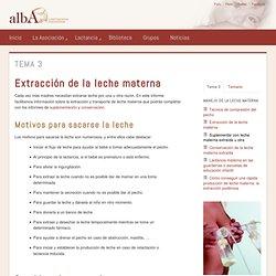 Extracción de la leche materna