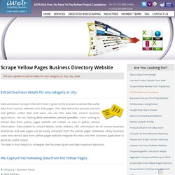 Scrape Yellow Pages, Extract Data From Yellow Pages, Business Directory Scraper