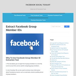 Extract Facebook Group Member IDs - Facebook Social Toolkit