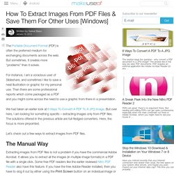 How To Extract Images From PDF Files & Save Them For Other Uses [Windows]