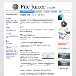 Extract Images from PDF on Mac OS X
