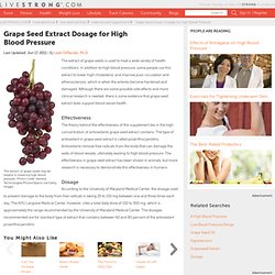 The Effects Of Grape Seed Extract