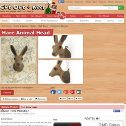 Hare Animal Head · Extract from Animal Heads by Vanessa Mooncie · How To Make A Taxidermy Mount