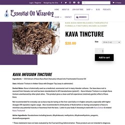 CO2 Extracted Kava Tincture - Essential Oil Wizardry