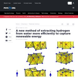 A new method of extracting hydrogen from water more efficiently to capture renewable energy