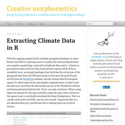 Extracting Climate Data in R - Creative morphometrics