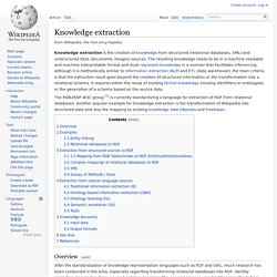 Knowledge extraction