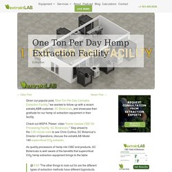Hemp Extraction Equipment for One Ton Per Day Hemp Extraction Facility