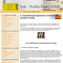 6. Extraction par expression à froid (ou par pression à froid) - TPE - extraction d'une huile essentielle