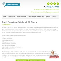 Tooth Extraction Calgary