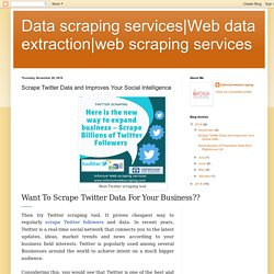 web scraping services: Scrape Twitter Data and Improves Your Social Intelligence