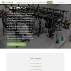 Extraction Methods and Extraction Machines