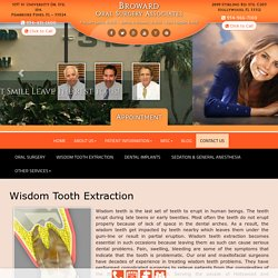 Wisdom Teeth Extraction Pembroke Pines, Hollywood, 33312 & 33024