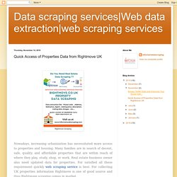 web scraping services: Quick Access of Properties Data from Rightmove UK