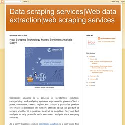 web scraping services: How Scraping Technology Makes Sentiment Analysis Easy?