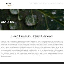 Pearl fairness cream