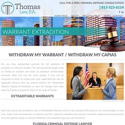 Extradition Attorney Tampa - thomaslawtampa.com