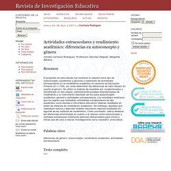 Actividades extraescolares y rendimiento académico: diferencias en autoconcepto y género