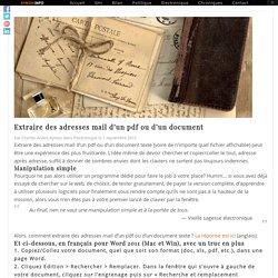 Extraire des adresses mail d'un pdf ou d'un document - Aymon l'Info